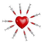 Heart medicine — Stock Photo