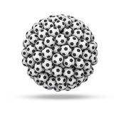 Soccer ball sphere — Stock Photo