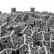 QR code dice pile — Stock Photo #51537161