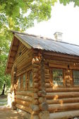 Ancient Russian log house — Stock Photo