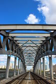 Railway Bridge in Moscow — Stock Photo