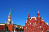 Moskevský kreml a historické muzeum na rudém náměstí v moskvě — Stock fotografie