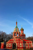 Orthodox church of red brick — Stock Photo