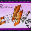 Stock Photo: Postage stamp with image plane