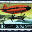Postage stamp with the image airship — Stock Photo