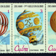 Stock Photo: Postage stamps with image balloons