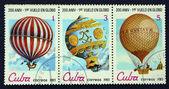 邮票与图像气球 — 图库照片