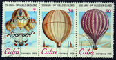 Postage stamps with the image balloons — Stock Photo