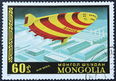 Postage stamp with the image aerostat — Stock Photo