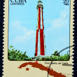 Postage stamp with the image of the lighthouse — Zdjęcie stockowe