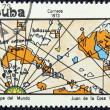 Stock Photo: Postage stamp with image of geographical map