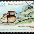 Postage stamp with the image of archaeological trophies — Stok fotoğraf
