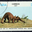 Stock Photo: Postage stamp with the image of a dinosaur