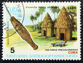 Postage stamp with the image of archaeological trophies — Stock Photo