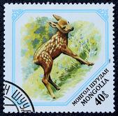 Estampilla con la imagen de un ciervo — Foto de Stock