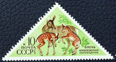 Postage stamp with the image of a deer — Stock Photo