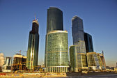 """Construction of business center """"Moscow-City"""" — Stock Photo"""