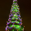 Stock Photo: Decorated Christmas tree outdoor