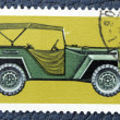 Postage stamp with the image of a old Soviet car. — 图库照片