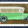 Postage stamp with the image of a old Soviet car. — Foto de Stock
