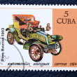 Stock Photo: Postage stamp with image of retro car