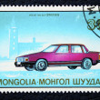Postage stamp with the image of a car. — 图库照片