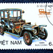 Postage stamp with the image of retro car. — Stock Photo