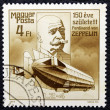 Постер, плакат: Postage stamp dedicated to the creator of the airship Ferdinand Zeppelin