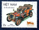 Postzegel met de afbeelding van retro auto — Stockfoto