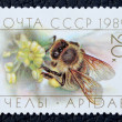 Stock Photo: Postage stamp with image of bee