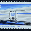 Postage stamp with the image of the train — Stock Photo
