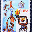 Postage stamp with the image of different sports — Stock Photo