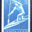 Postage stamp with the image of a rower — Stock fotografie