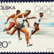 Stock Photo: Postage stamp with image of runners.