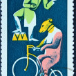 Postage stamp depicting the circus performers — Foto de Stock