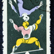 Postage stamp depicting the circus performers — Foto Stock