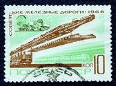 Posta pulu görüntü ile demiryolu inşaatı — Stok fotoğraf