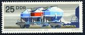 Francobollo con l'immagine del trasporto merci ferroviaria — Foto Stock