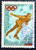 Görüntü bir patenci ile posta pulu — Stok fotoğraf
