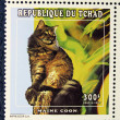 Postage stamp with the image of the cat (Maine coon) — Photo
