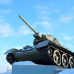 Soviet tank — Stock Photo