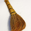 Besom on snow — Stock Photo