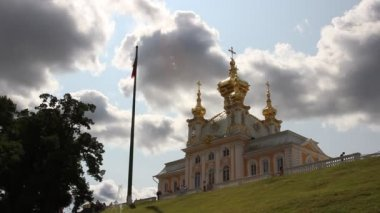 Peterhof Palace Church (St. Petersburg) — Stock Video