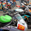 Exhibition race bikes. Russian stage of the Superbike World Championship, on July 21, 2013, in Moscow Raceway, Moscow, Russia. — Stock Photo #28656251