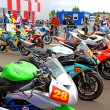 Exhibition race bikes. Russian stage of the Superbike World Championship, on July 21, 2013, in Moscow Raceway, Moscow, Russia. — Stock Photo #28656255