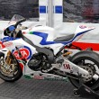 Exhibition race bikes. Russian stage of the Superbike World Championship, on July 21, 2013, in Moscow Raceway, Moscow, Russia. — Stock Photo