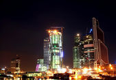 Night view of modern Moscow — Stock Photo