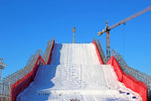 Artificial ski slope — Stock Photo