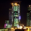 Modern Moscow at night — Stock Photo
