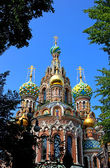 Cathedral of the Resurrection on Spilled Blood in St. Petersbur — Stok fotoğraf